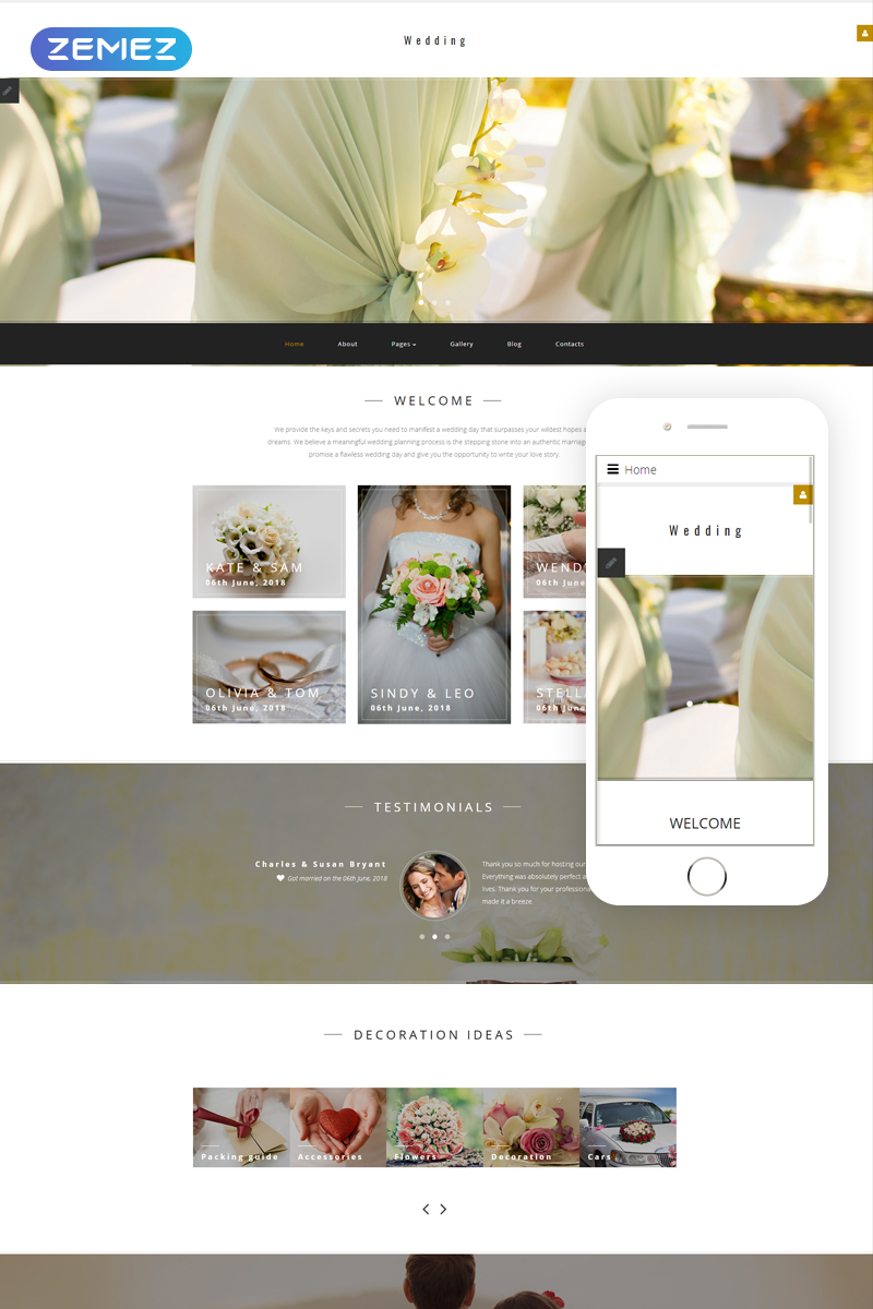 Wedding Planner Responsive Joomla Template - screenshot