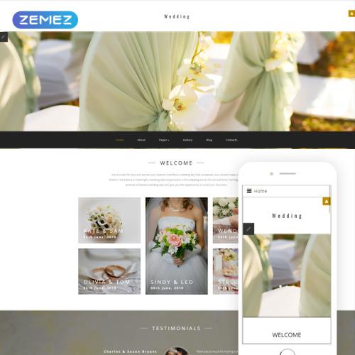 Wedding  - Joomla! Template based on Bootstrap
