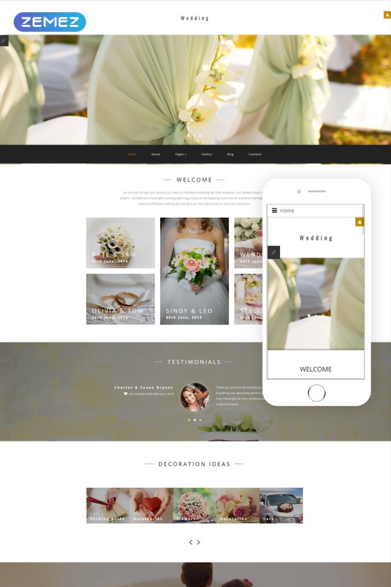 Wedding Planner Responsive Joomla Template New Screenshots BIG