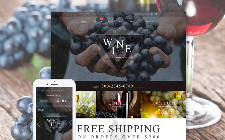 Wine - Wine Shop Responsive Shopify Theme New Screenshots BIG