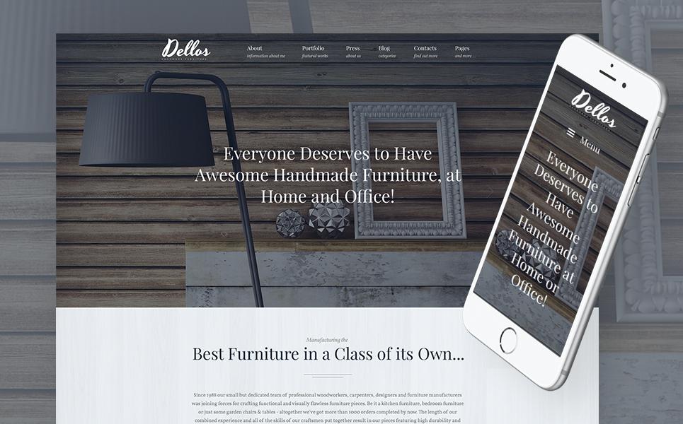 Шаблон Dellos для сайта мебельного магазина #62116