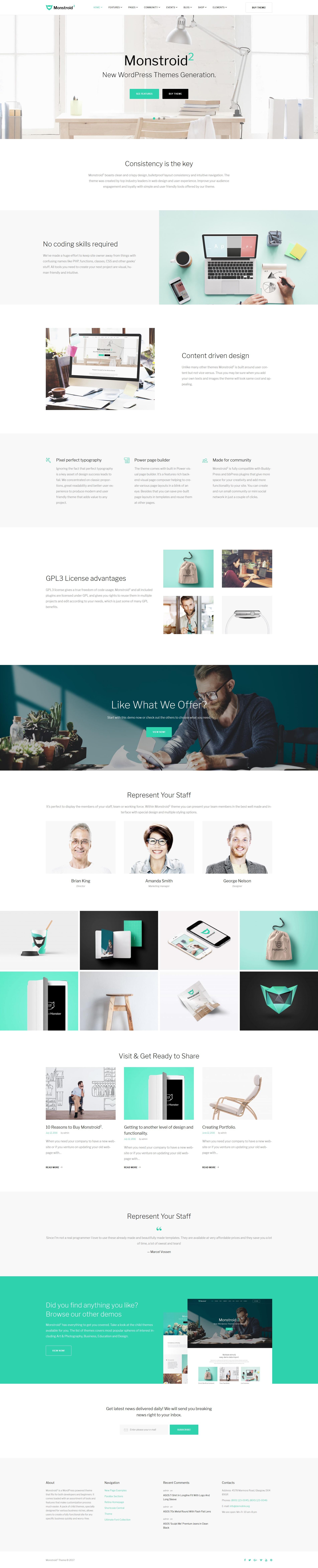 Website Design Template 62222 - concept clean corporate creative business page builder ecommerce portfolio unique premium professional modern