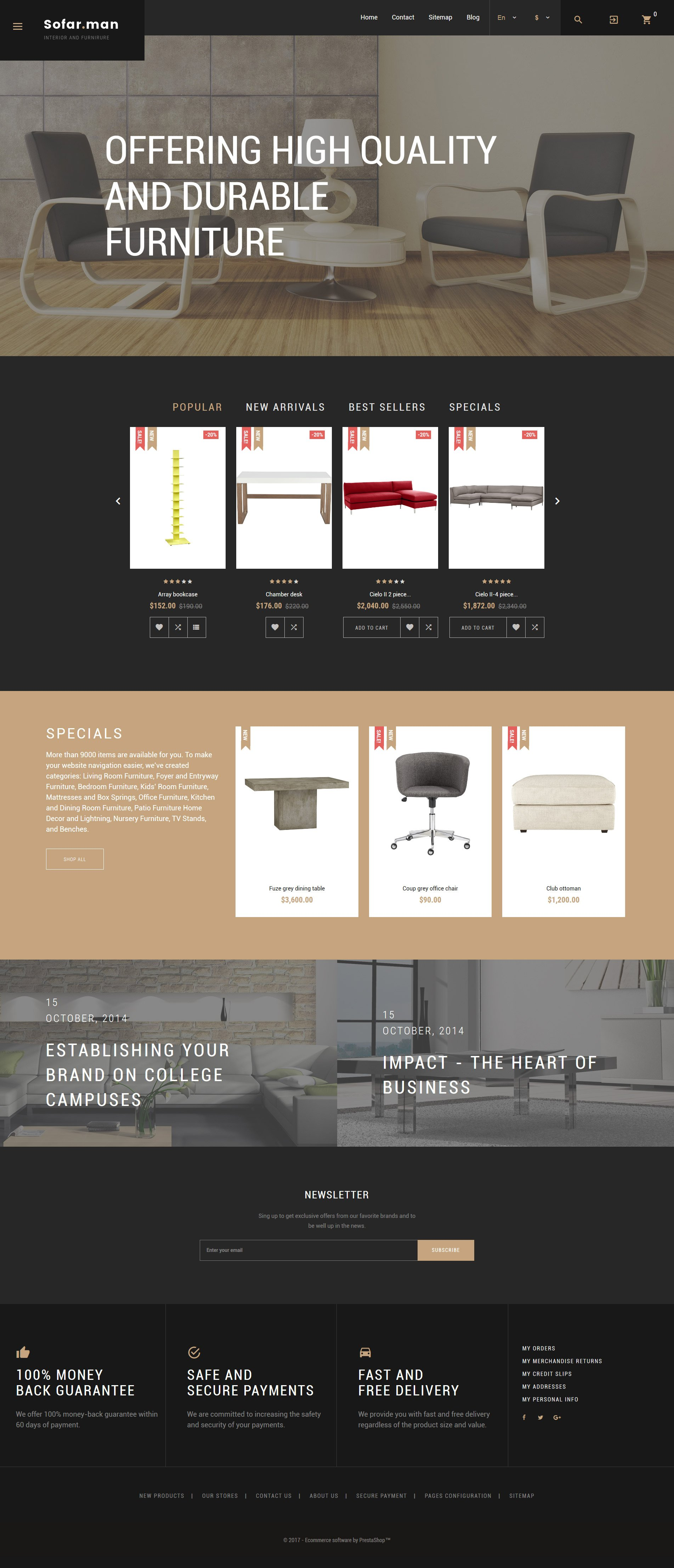 Website Design Template 62223 - furniture profile company designers work team portfolio creative ideas exterior lamp catalogue order clients customers support services delivery decoration style awards collection product advices tools