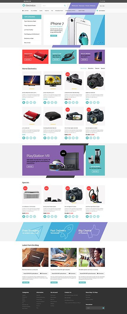 Website Design Template 62224 - connection