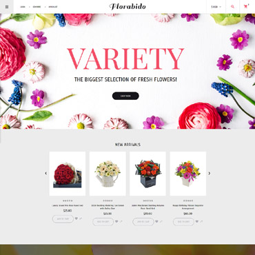 Preview image of Flowers VirtueMart Template No. 62231