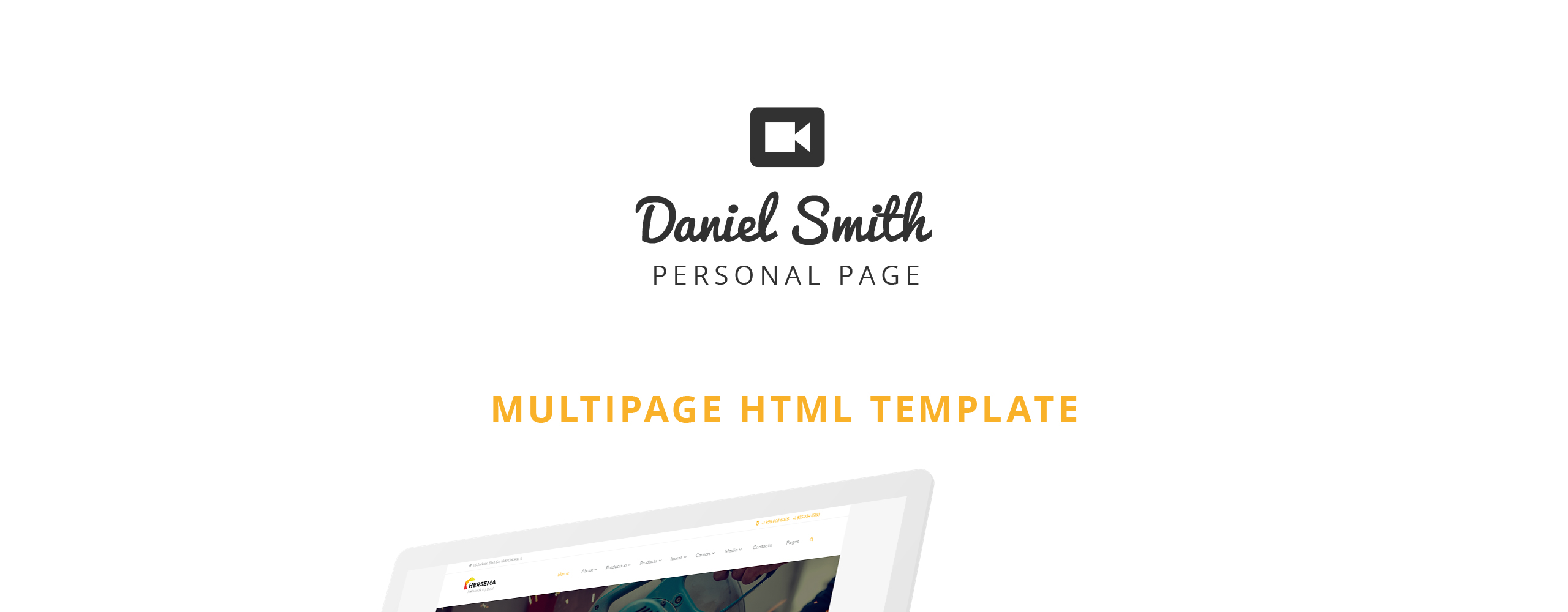 Daniel Smith - Personal Page Responsive Multipage Website Template