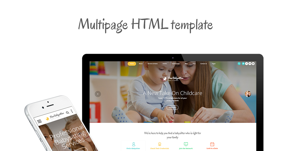 Fine Babysitter - Nanny Services Responsive Multipage Website Template