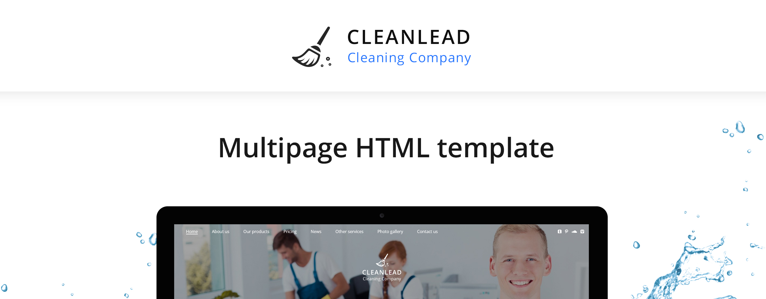 Cleanlead Cleaning Company Website Template