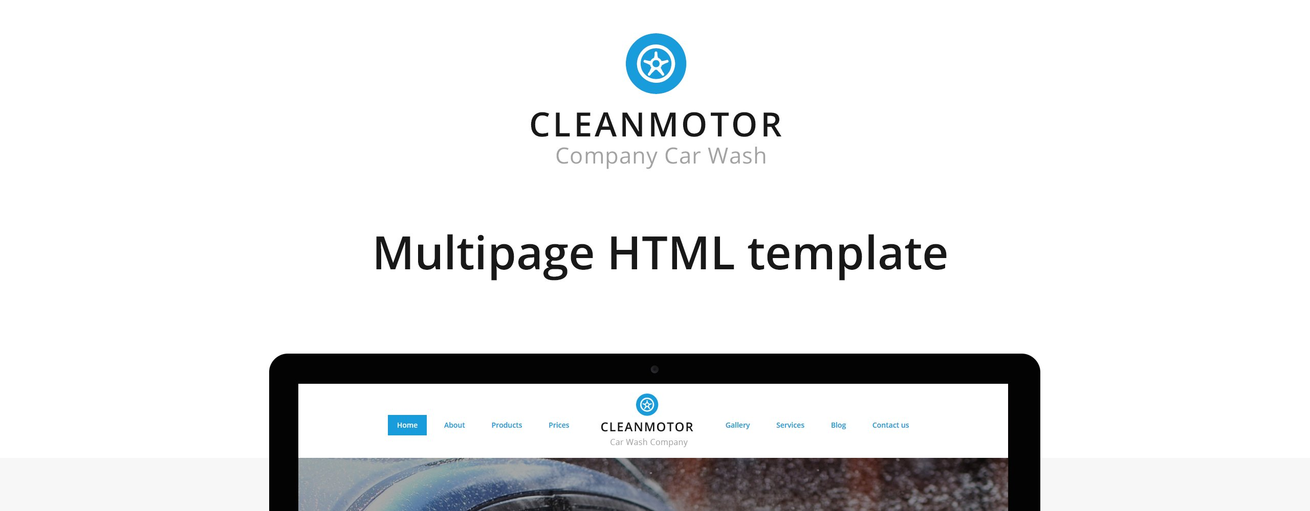CleanMotor - Car Wash Company Responsive Multipage Website Template