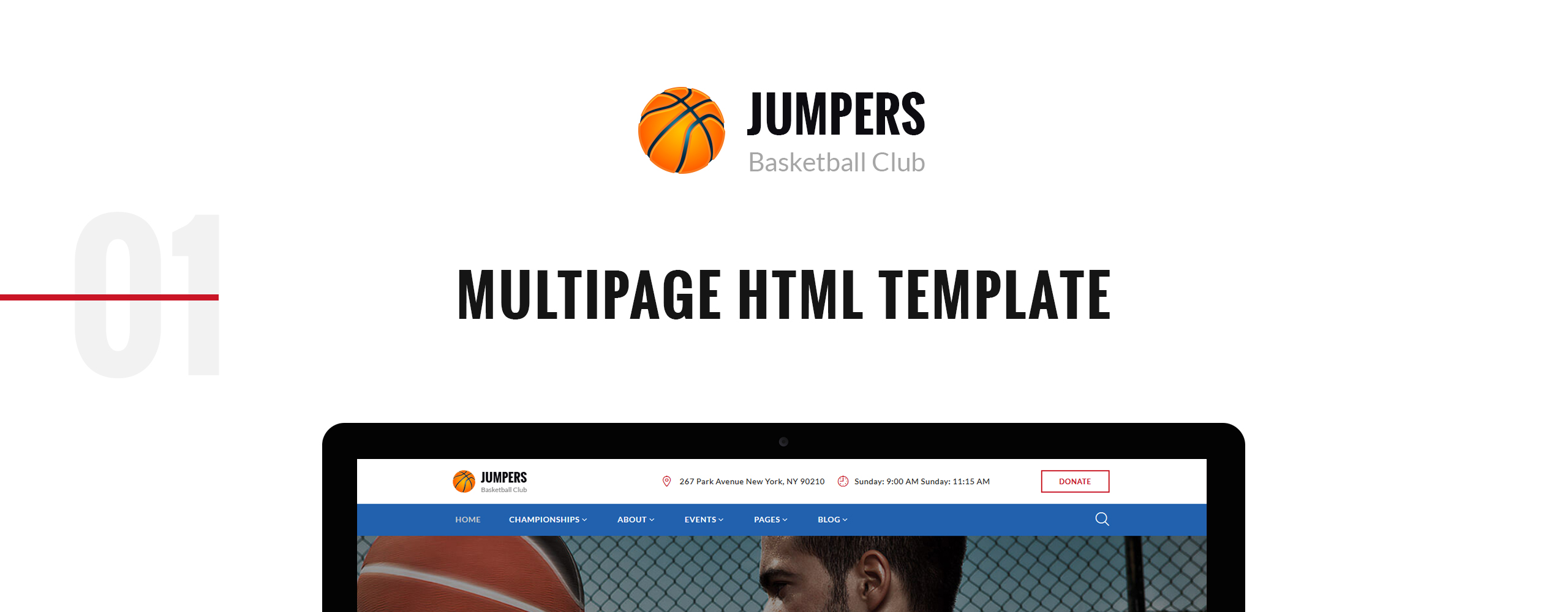 Jumpers - Basketball Club Responsive Multipage Website Template
