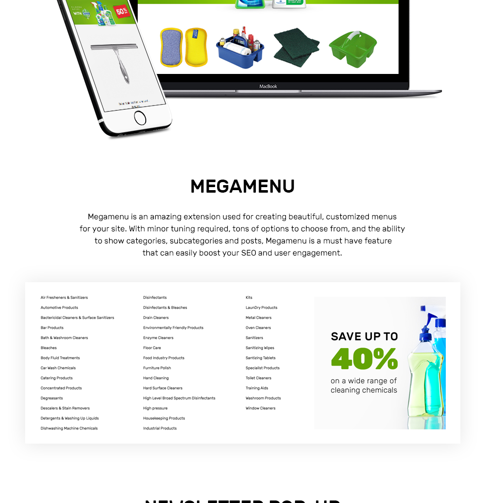 CleanJinn - Cleaning Supplies and Tools Store Responsive Magento Theme