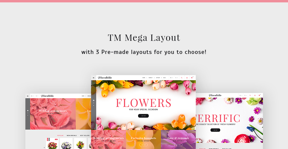 Website Design Template 62258 - delivery chamomile daisy bouquet wrapping