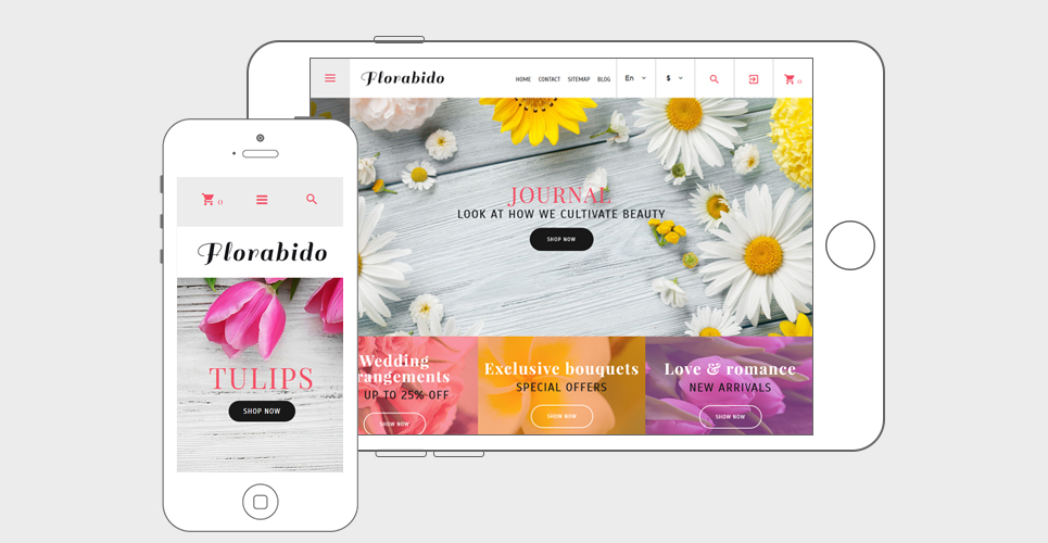 Website Design Template 62258 - daisy bouquet wrapping