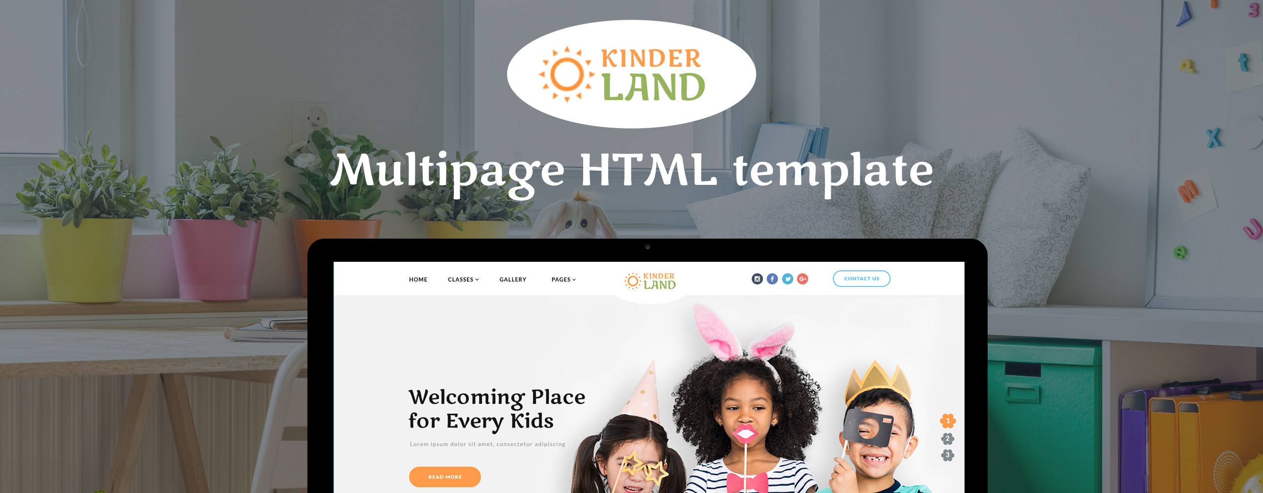 Kinder Land - Kids Center Responsive HTML5 Website Template