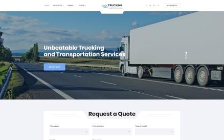 Trucking - Logistics & Transportation Services HTML Website Template