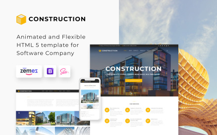 Construction - Construction Company Responsive Multipage Website Template