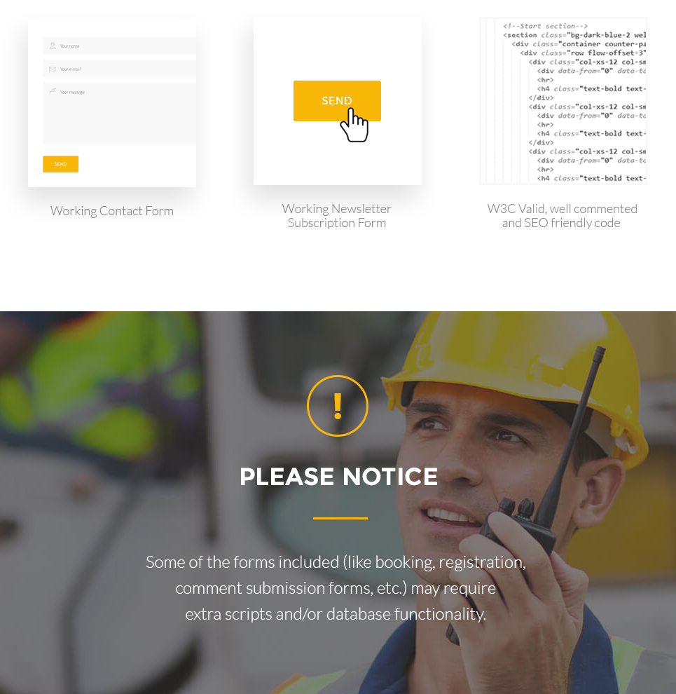 Construction Construction Company Responsive Multipage Website