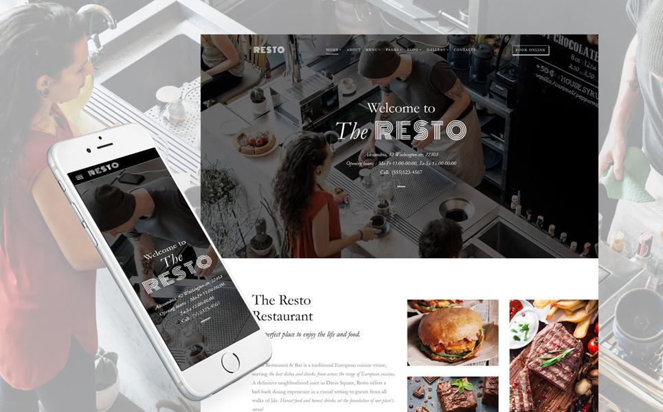 Plantilla HTML ideal bar, restaurante, pizzería, fast-food ...