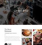 Кафе, рестораны, клубы. Шаблон сайта 62276