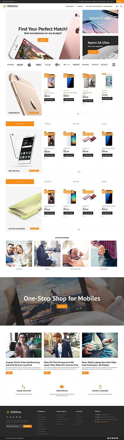 Mobillaso - Mobile Store Responsive Magento Theme 2