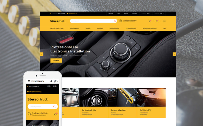 Auto Towing OpenCart Template New Screenshots BIG