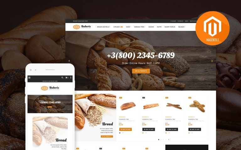 Bakerix - Bakery & Cakes Responsive Magento Theme New Screenshots BIG