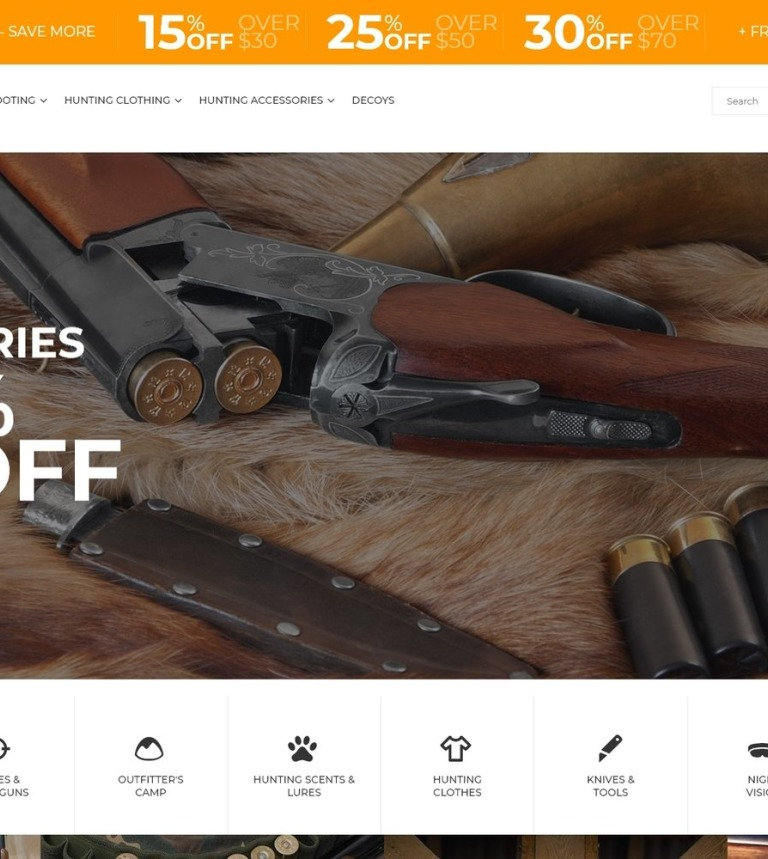 Bighunt Hunting Gear And Supplies Magento 2 Theme