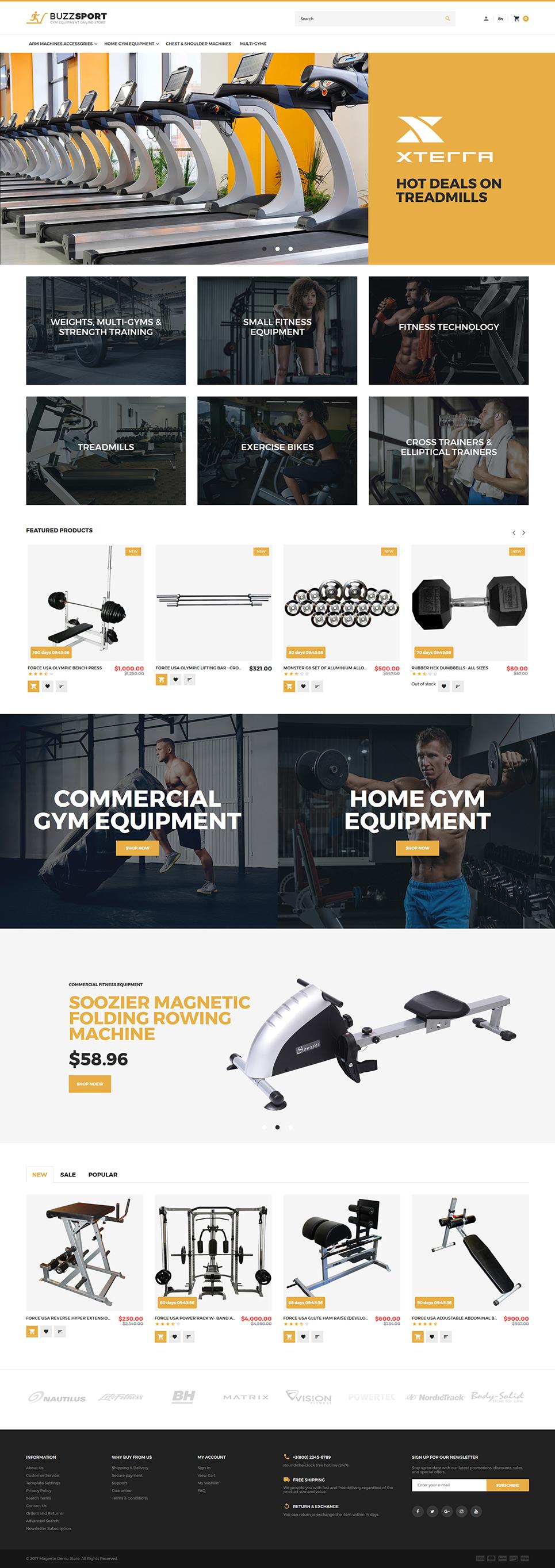 BuzzSport - Gym Equipment Magento 2 Theme 955ce95014