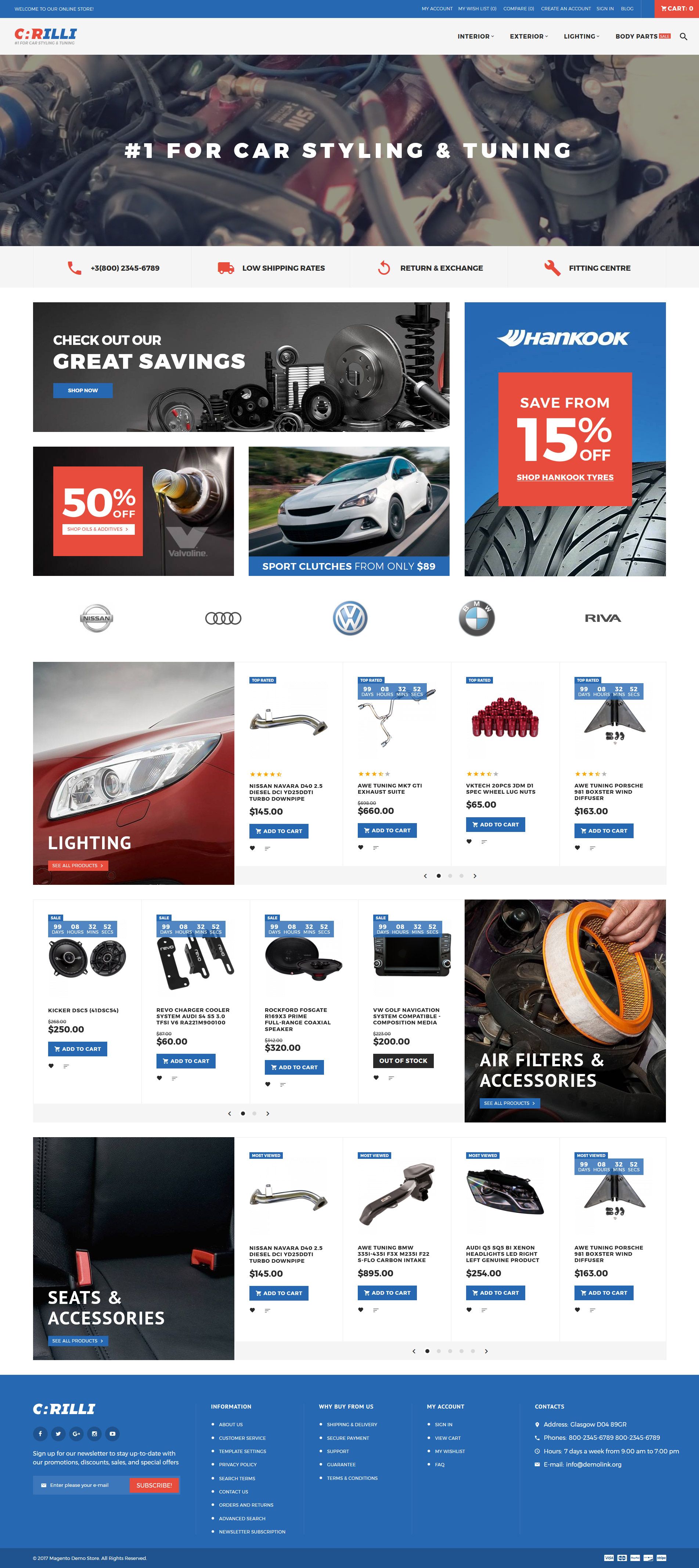 """Carilli - Tuning automobile"" thème Magento adaptatif #62285"