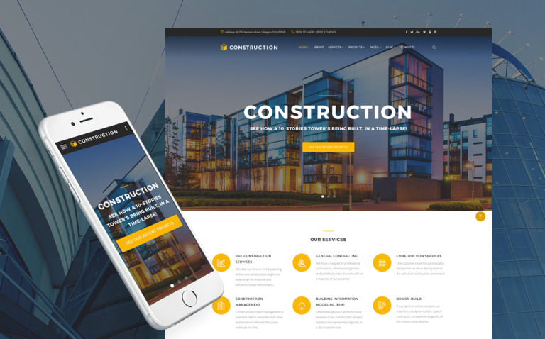 Construction - Construction Company Responsive Multipage Website Template New Screenshots BIG
