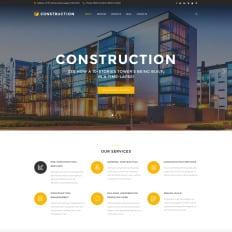 Website template building company metal building construction.