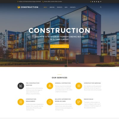 Construction Company Website Templates