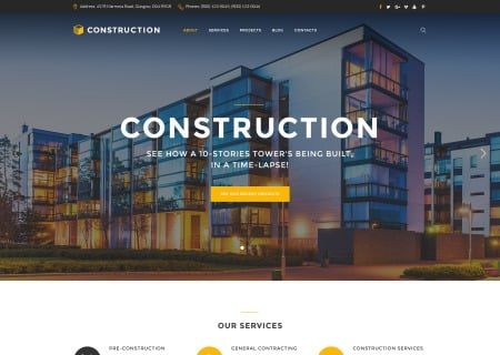 Construction - Construction Company Responsive Multipage
