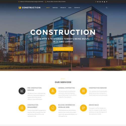 Construction  - Website Template based on Bootstrap