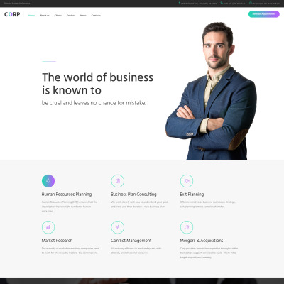 Web design templates website design templates template for Consulting website
