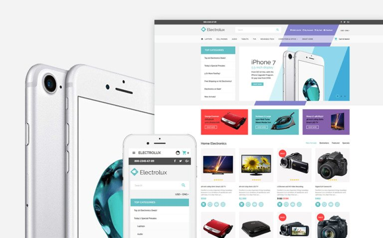 Electronics Store Responsive OpenCart Template New Screenshots BIG