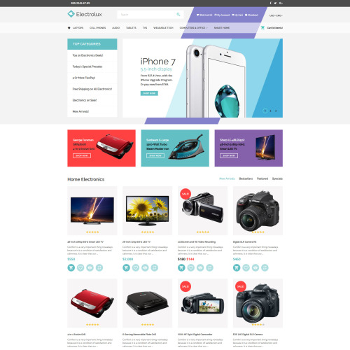 Electrolux - Responsive OpenCart Template