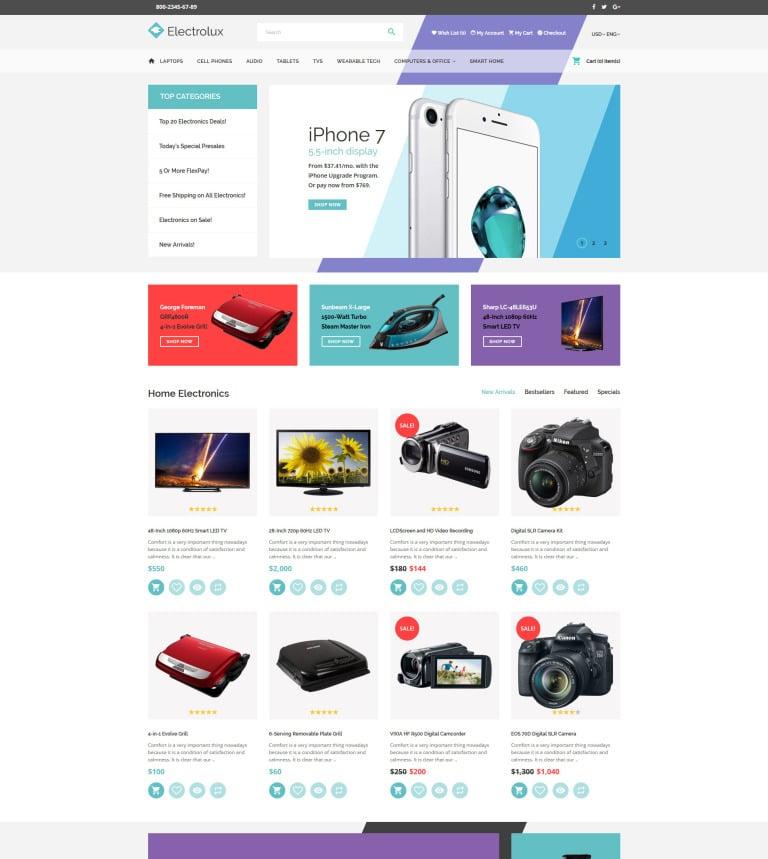 Electronics Tech Gadgets Store Opencart Template