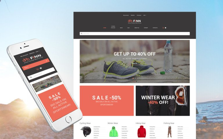 Extreme Sports Store Shopify Theme New Screenshots BIG