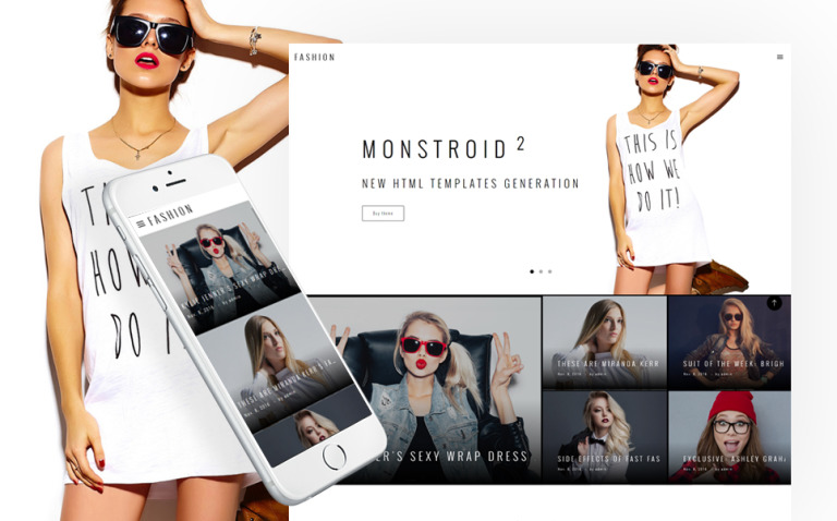 Fashion Blog Multipage Website Template New Screenshots BIG
