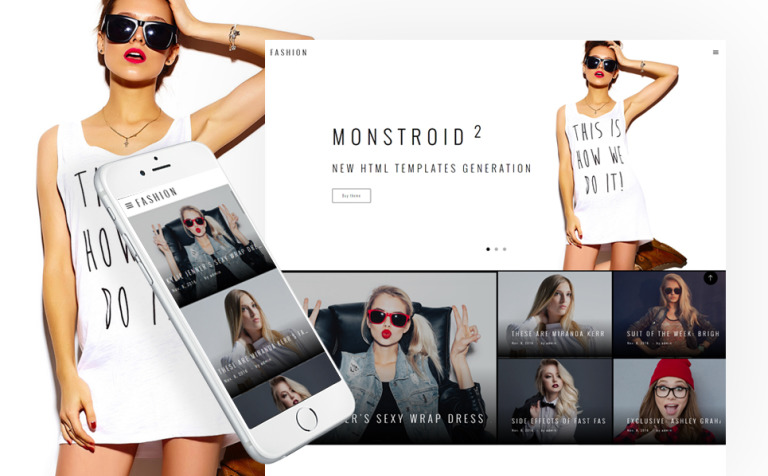 Fashion Blog Multipage Website Template