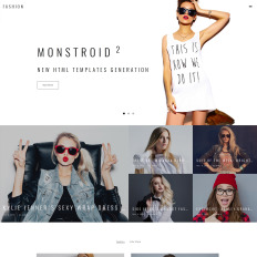 Fashion Website Themes with Parallax Scrolling Effect