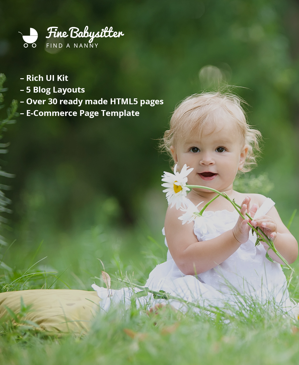 Fine Babysitter - Nanny Services Responsive Multipage Template Web №62238