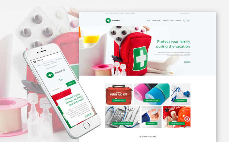 First Aid Responsive VirtueMart Template New Screenshots BIG