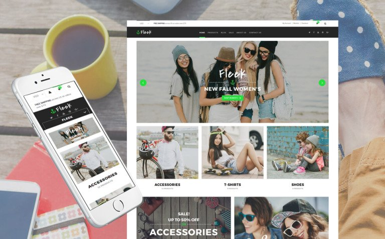 Fleek - Fashion Responsive Shopify Theme New Screenshots BIG