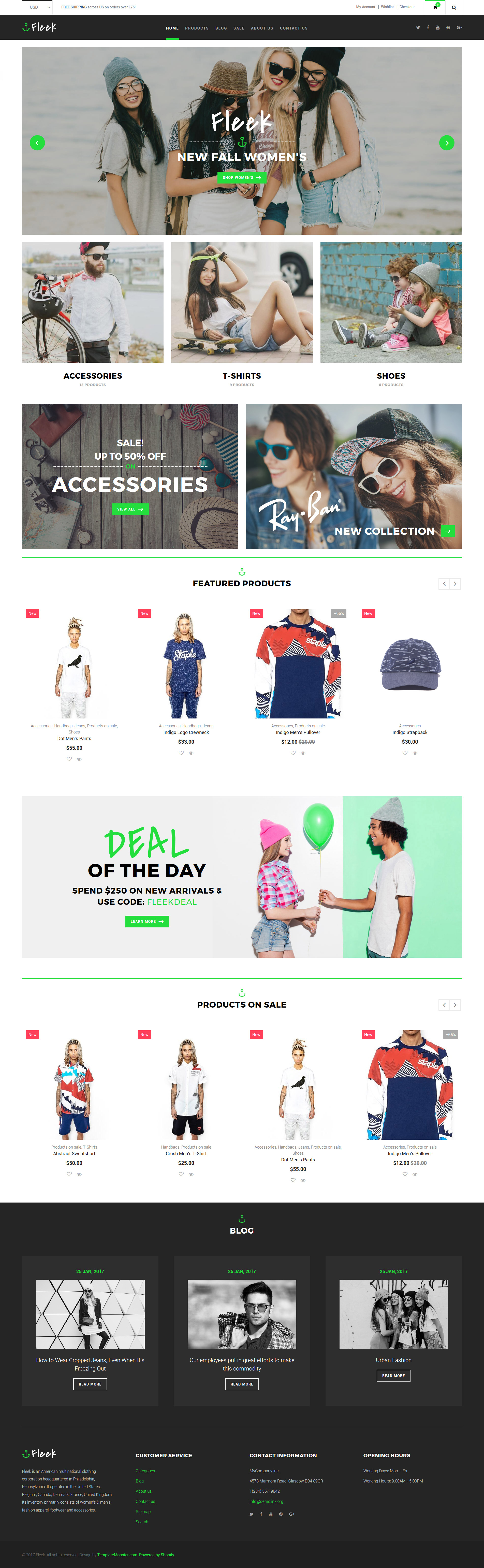 Fleek - Fashion Responsive Shopify Theme - screenshot
