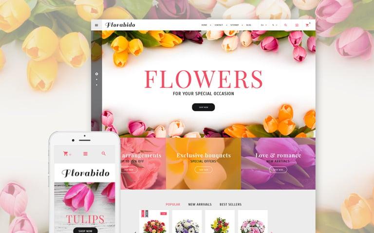 Florabido - Bouquets & Floral Arrangement PrestaShop Theme New Screenshots BIG