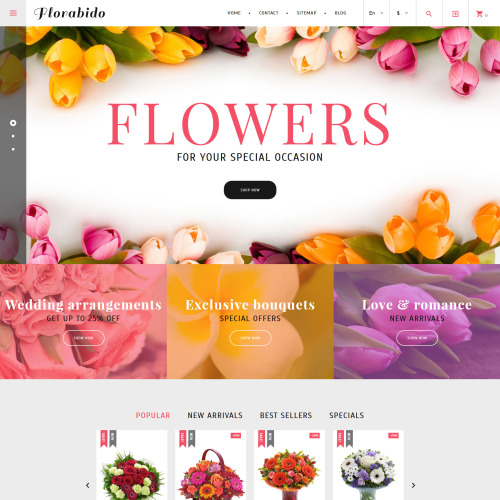 Florabido  - PrestaShop Template based on Bootstrap