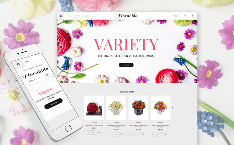 Flower Shop Responsive VirtueMart Template New Screenshots BIG