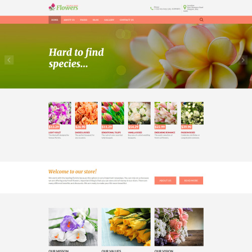Flowers  - Joomla! Template based on Bootstrap